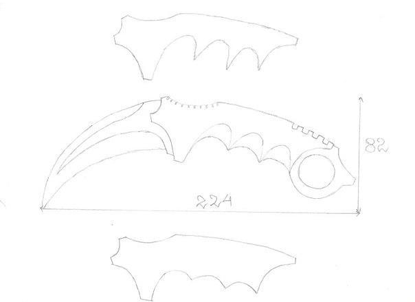Как сделать из бумаги нож керамбит из кс го