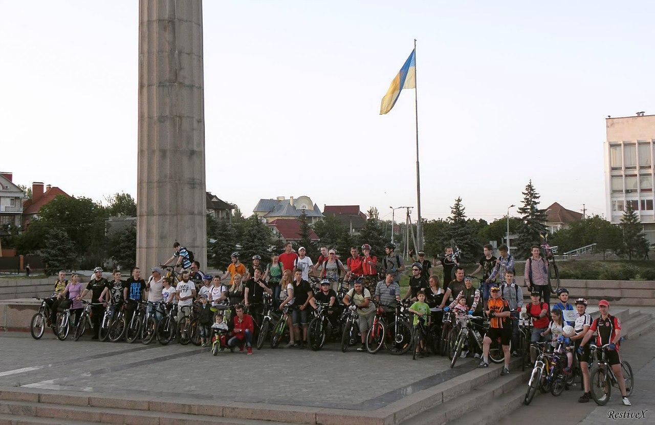 RideOfSilence 2015 in Kherson (Ukraine)