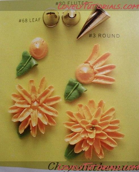 Как сделать красивые цветы из крема