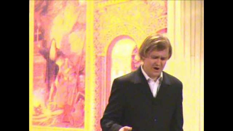 Bass-baritone Igor Bakan sings Ivan Susanin's aria from Glinka's A Life for the Tzar