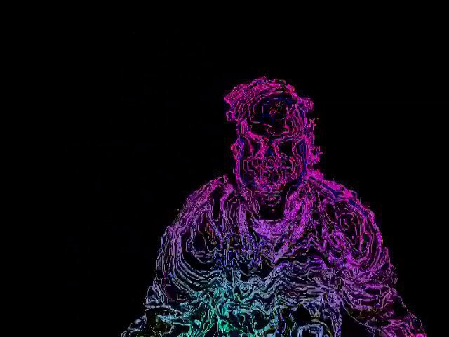 Kinect Max/MSP/Jitter (Multicolor Wireframe Effect)