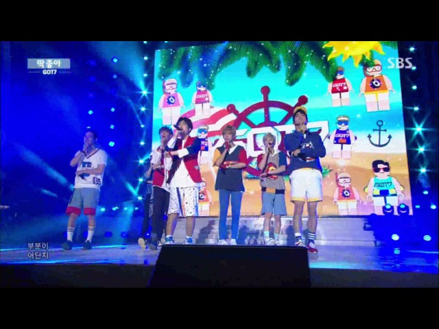 GOT7 딱 좋아(Just right) Stage @ SBS Inkigayo 2015.08.16