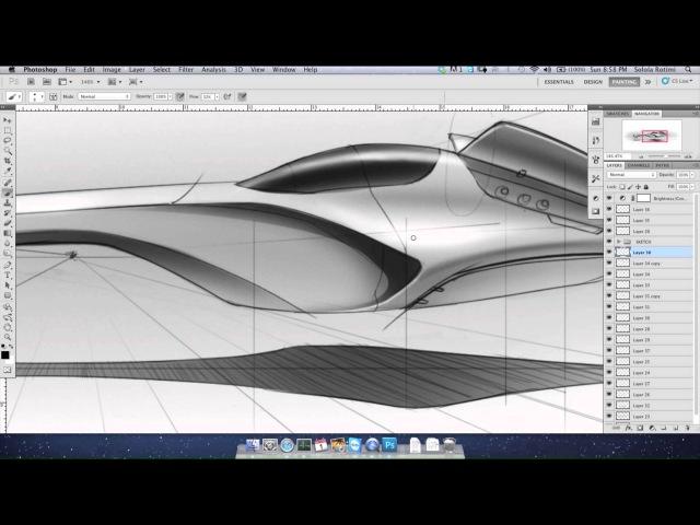 Photoshop hover craft render