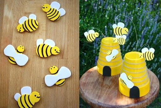 Горшок пчелка своими руками