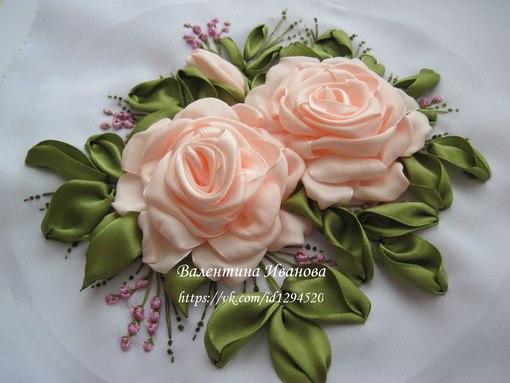 Цветы из лент вышивка лентами мастер класс - ВМС Строй