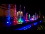 Танцующий цветной фонтан в Крутых Ключах!