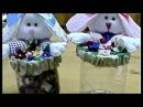 DIY - RECICLAGEM - Easter Bunny feltre - Pote de garrafa pet com coelinho
