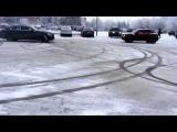 Mercedes-Benz C180 AMG Line Drifting on snow(Нижний Новгород Дворец Спорта)