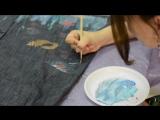Мастер-класс Елены Сосниковой. Роспись красками по ткани.