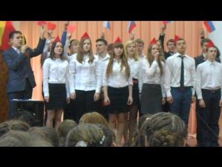 Выступление 9-б класса с песней
