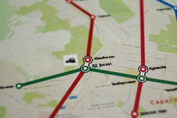 Метро в Саратове нет, но карта