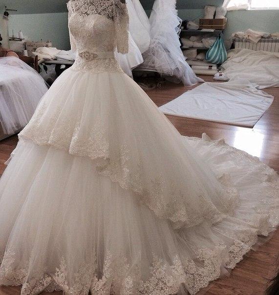 Чеченские пышные свадебные платья