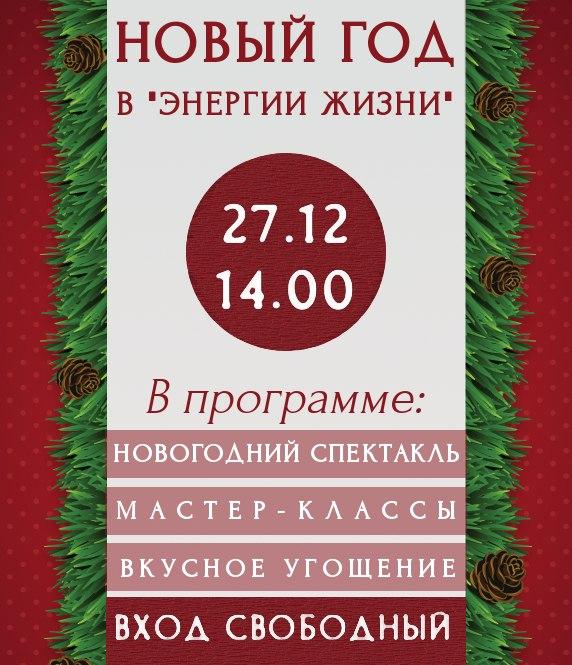 """Афиша Коломна Новый Год в """"Энергии Жизни"""""""