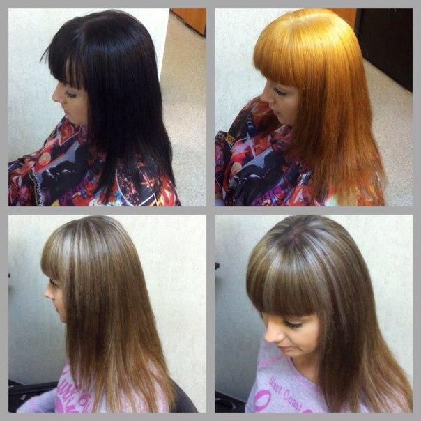 Чем вывести чёрный цвет волос