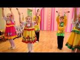 Красивый танец с ложками в детском саду