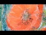 Рисование цветов поэтапно. Полевые маки. How to paint flowers of poppies