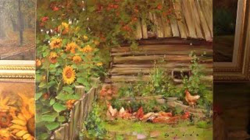 У околицы. Живопись маслом. Alla Prima. Process of creating oil painting from Oleg Buiko.