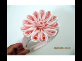 Flores pétalos botón de rosas diademas en cintas para el cabello