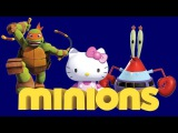 Minions Box full opening SpongeBob Ninja Turtles Hello Kitty blind bags - Eggs and Toys TV