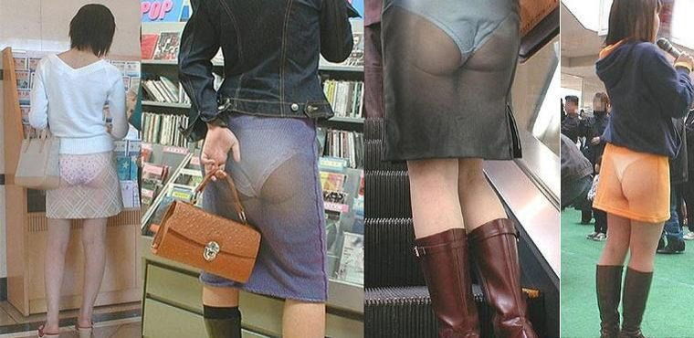 трусы под юбкой, под юкой без трусов, прозрачная юбка, видны трусы,