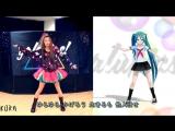 Красивая девушка танцует с Мику Хатсуне _)