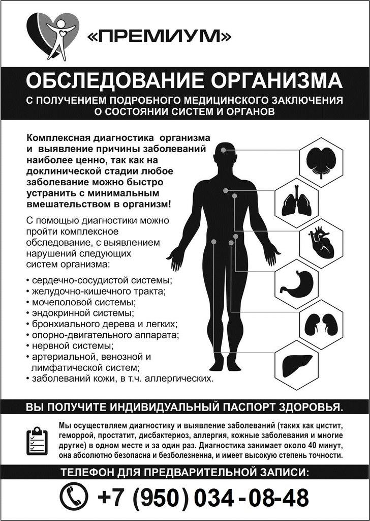 Как своему организму сделать диагностику