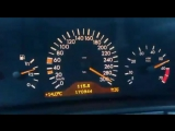 W210 E5.5 AMG Top speed acceleration 300 Km-h