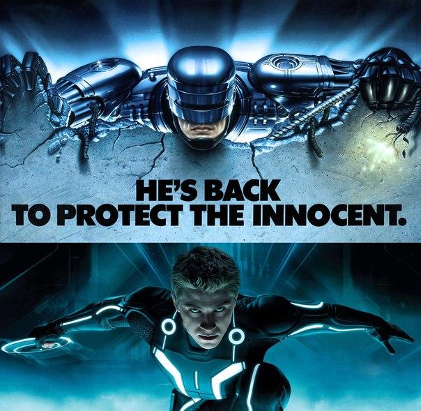 Купить постеры Tron и RoboCop