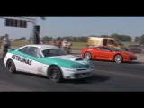 Ferrari F-430 Vs. Alfa Romeo GTV Drag Race