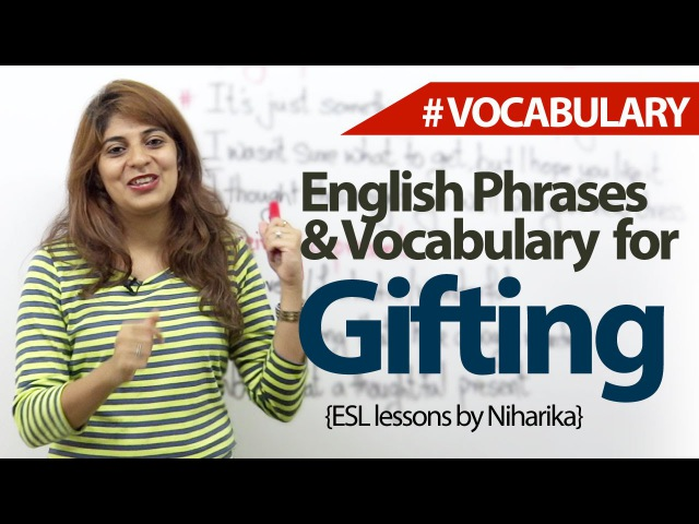 English lesson - Gifting - Learn English Vocabulary Phrases