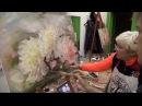 Мастер класс на двух холстах Цветы Живопись маслом Workshop