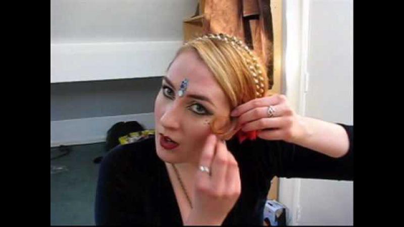 Simple ATS Tribal style hair, using sock bun - Part 2 » Freewka.com - Смотреть онлайн в хорощем качестве