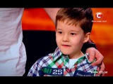 5 year old boy sings rock song on Ukraines got talent