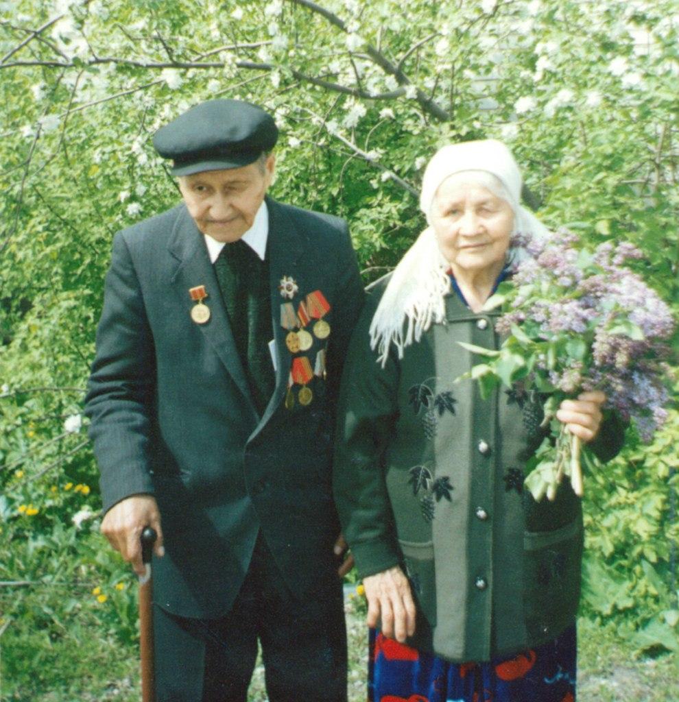 Казип Н.И. со своей женой - Анной Тюлеповной