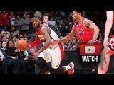 John Wall vs Derrick Rose EPIC PG Duel Highlights Wizards vs Bulls (2015.01.09) - 2nd Battle!