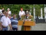 В Стаханове состоялся митинг по случаю 72-ой годовщины освобождения города от фашистских захватчиков