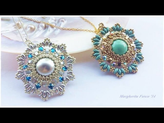 DIY Tutorial con perline ciondolo Aglaia. Bead tutorial