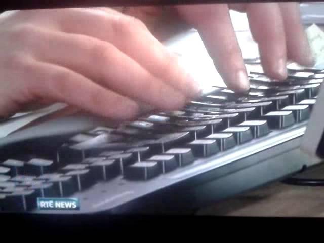 RTE News Award winning fake typing.