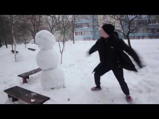 Прикол Как отпздить снеговика Юмор