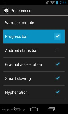 Reedy Android – Toggling the progress bar