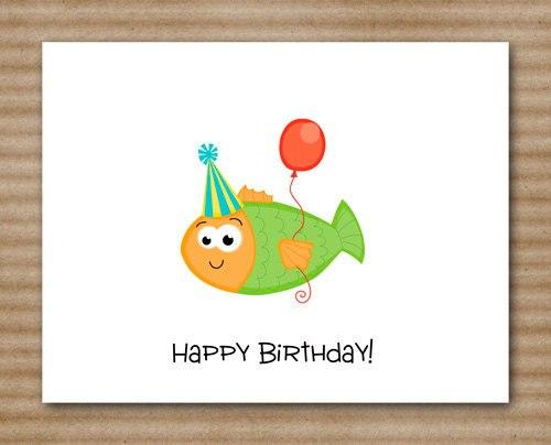 Открытки ко дню рождения для рыб 800