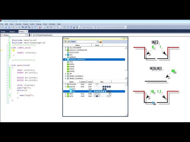 Программирование микроконтроллеров avr Урок 5 Atmega
