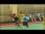 Virage FC's player Sarhan Mikayilov hit the referee in a footsal match against FC Kurgan