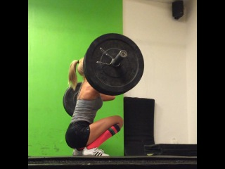 Alexandra Bring  on Instagram: Far from my best lift but it's a PR 55 kg  41 kg snatch, 55 kg clean and jerk today. 4 weeks ago I did 36 kg snatch and 51 kg c&j.