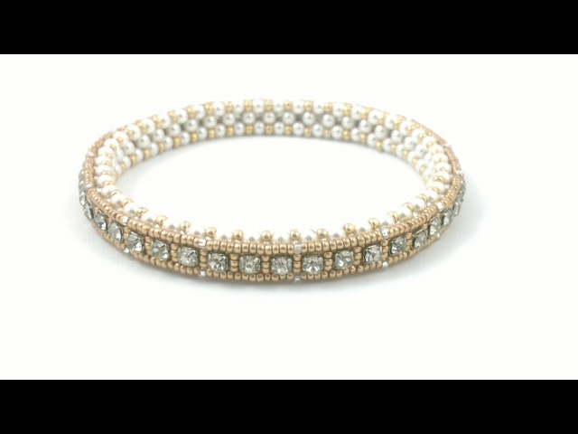 Beading4perfectionists 1920s Art Deco style tennis bracelet. Cupchain in a CRAW