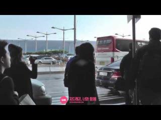 (30.11.14) Чжиён в аэропорту Инчхон, возвращение из Китая