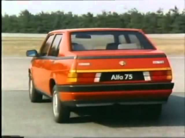 ALFA 75 tested by Riccardo Patrese Eddie Cheever in Balocco Test Track