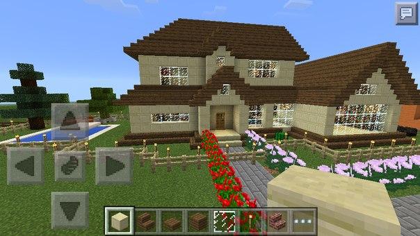 Видео как построить красивый дом в майнкрафте 0.13.0