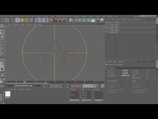 Видеоурок по Cinema 4d : Plain эффектор и Jiggle деформатор для сплайнов