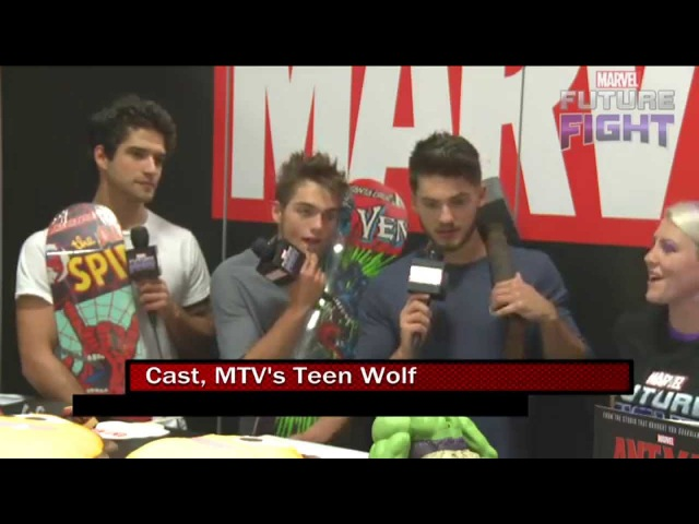 The Stars of MTV's Teen Wolf Prowl on Marvel LIVE! at San Diego Comic-Con 2015